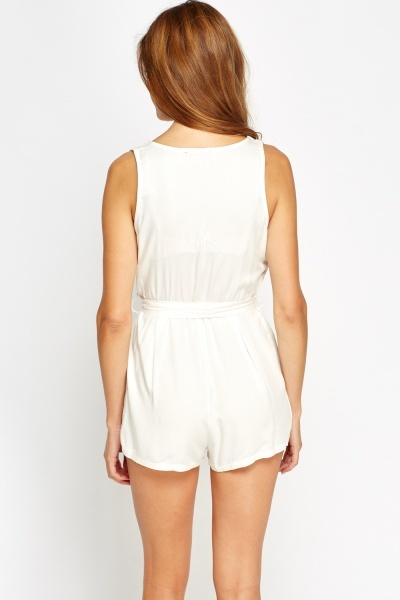 Multi Patch Side Playsuit