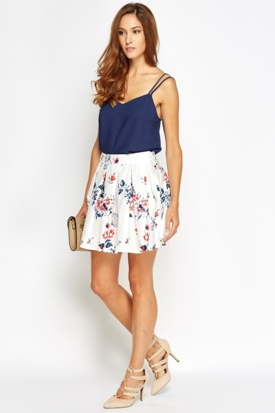 Multi Printed Skater Skirt
