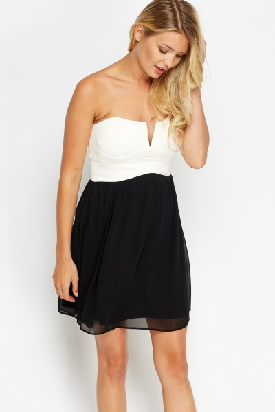 Bandeau Sweetheart Bodice Dress