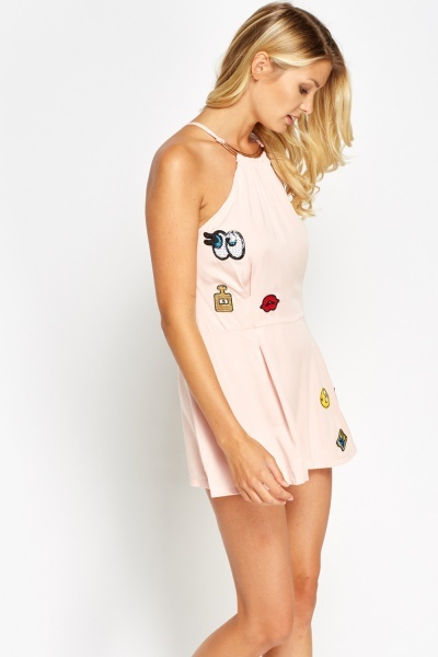 Multi Badged Playsuit