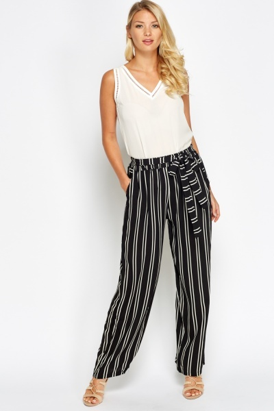 Striped Printed Casual Trousers