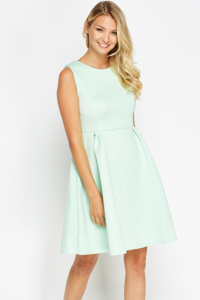 Tied Back Scuba Skater Dress