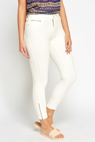 Off White Skinny Jeans