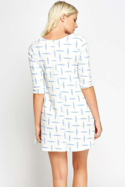 Printed Textured Tent Dress