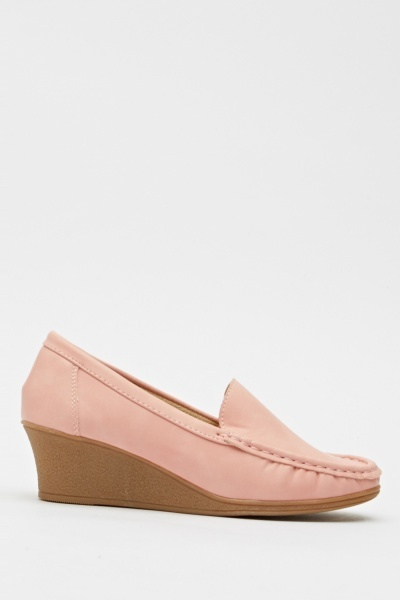 Basic Wedged Loafers