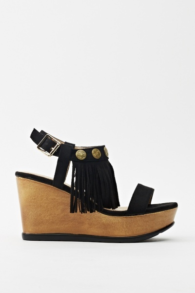 Tasseled Wedge Sandal