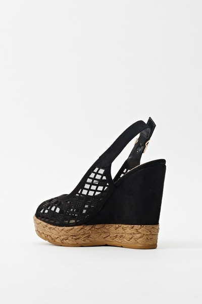Wedge Sling-Back Cork Shoe