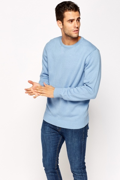 Casual Ribbed Round Neck Jumper