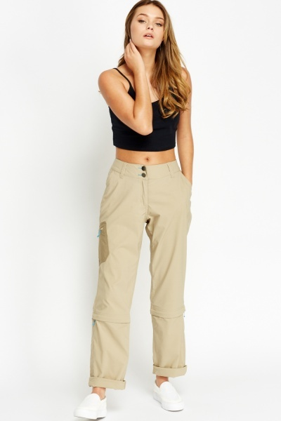 Image of Zip Detachable Light Trousers