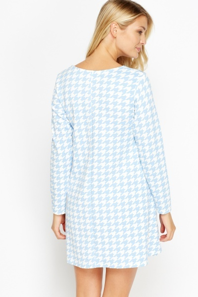Pastel Houndstooth Tent Dress