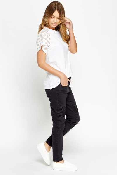 Charcoal Fitted Leg Jeans