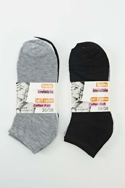 6 Pairs Pack Of Mix Three Colours Socks