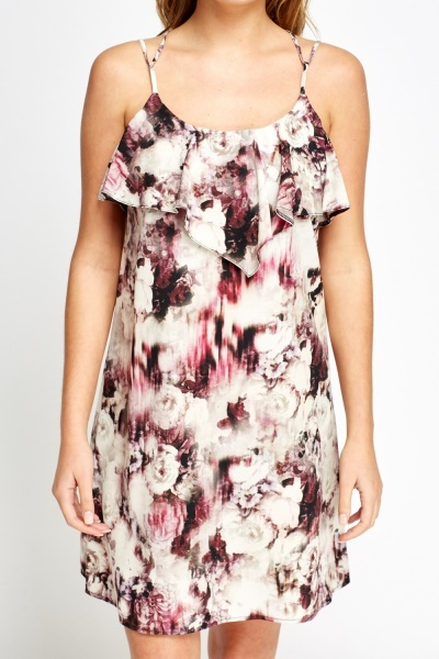 Flared Floral Swing Dress