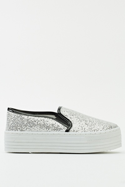 Double Sole Sequin Flatform