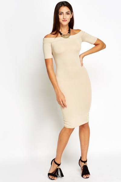 Image of Bandeau Bodycon Midi Dress