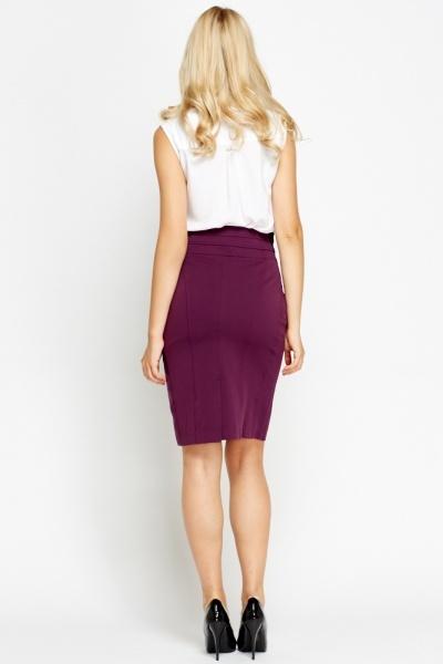 high waisted formal pencil skirt just 163 5