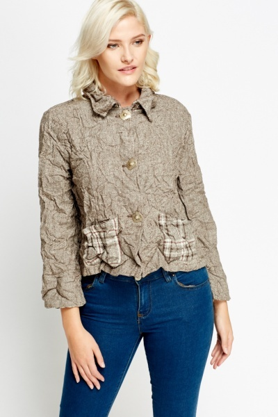 Crinkled Casual Jacket