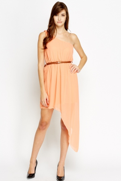 One Shoulder Asymmetric Dress