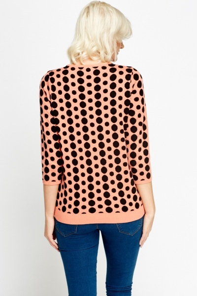 Polka Dot Casual Jumper