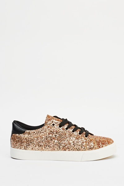 Glitter Low Top Trainers