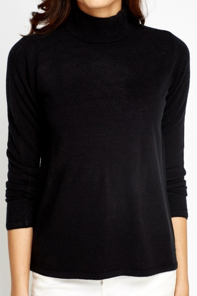 High Neck Black Jumper