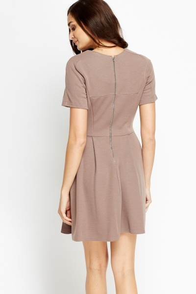 Short Sleeve Skater Dress