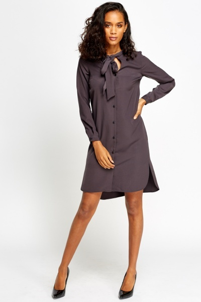 Tie Up Shirt Dress
