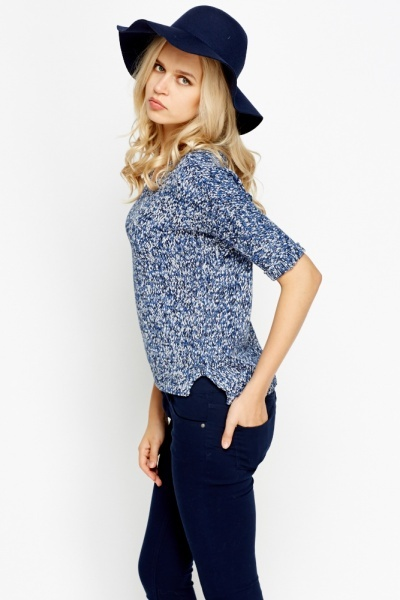 Speckled Knit Top