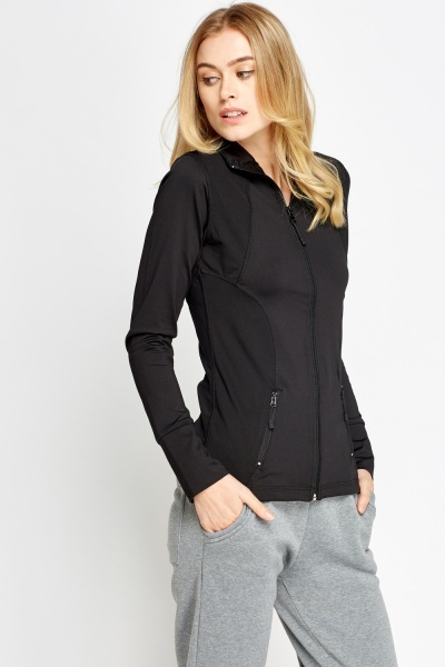 Long Sleeve Zip Up Sport Top