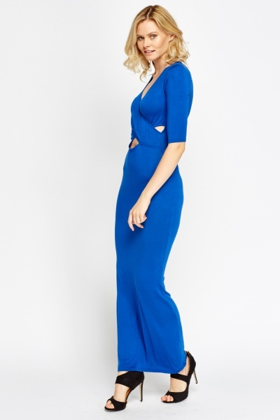 Cross Front Long Line Dress