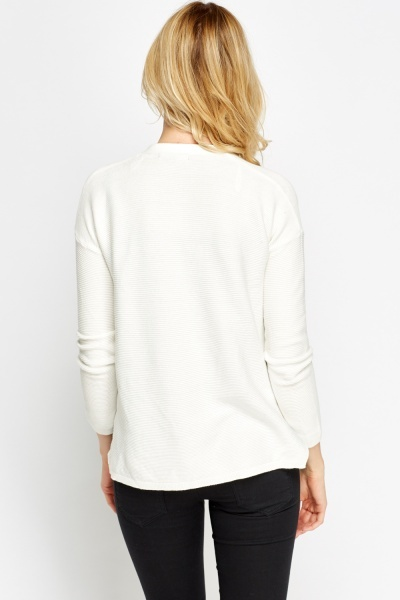 Open Front Cotton Cardigan