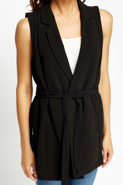 Black Casual Gilet
