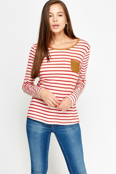 Contrast Striped Knitted Top