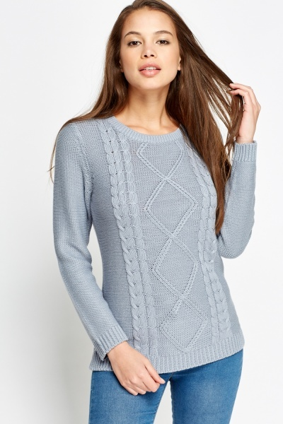 Detailed Plait Jumper
