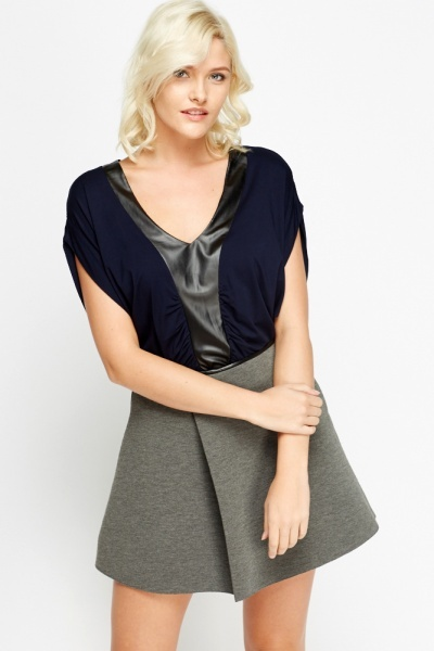Contrast Trim flare Top