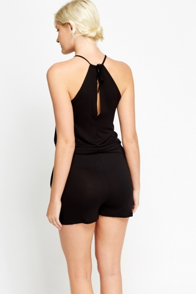 Drawstring Waist Playsuit