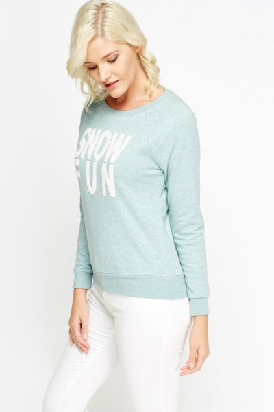 Glittery Mint Jumper