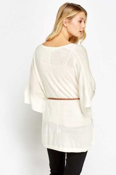 Asymmetric Belt Insert Cardigan