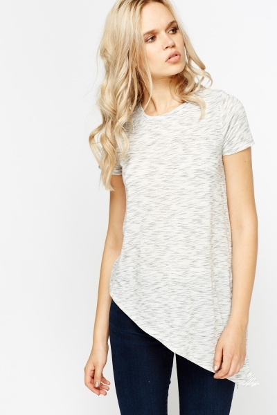Asymmetric Speckled T-shirt
