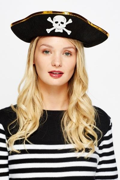 Image of Cross Bone Skull Pirate Hat