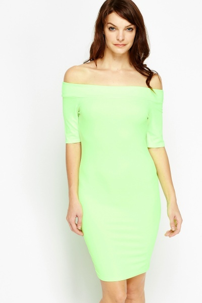 Image of Off Shoulder Bodycon Dress