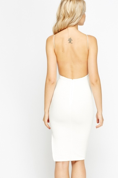 White Backless Mini Dress
