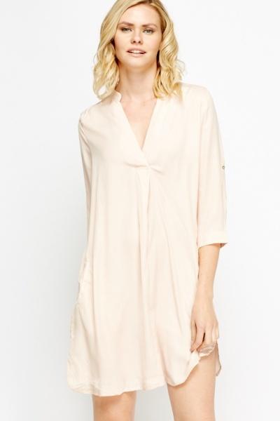 light peach shirt dress just 5