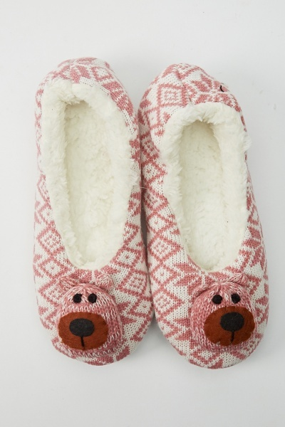 Image of Animal Knitted Slippers