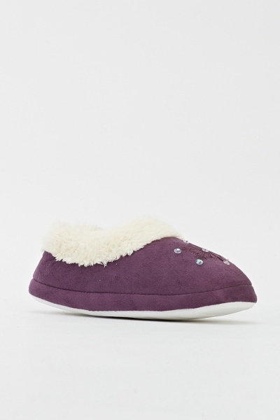 Image of Encrusted Front Slippers