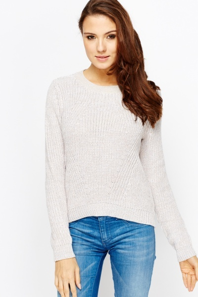 Image of Ribbed Knit Jumper