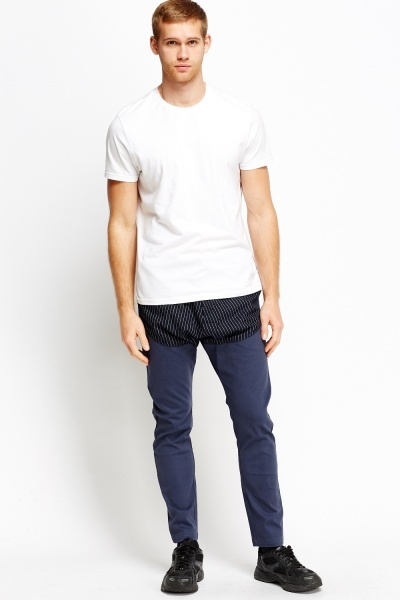Contrast Insert Trousers