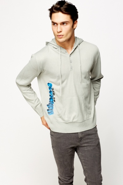 Logo Print Hooded Jumper