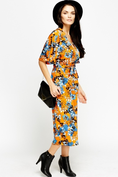 Flower Print Cropped Jumpsuit