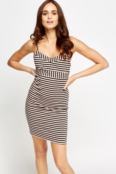 Image of Stripe Bodycon Mini Dress